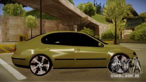 Seat Toledo German Style para GTA San Andreas traseira esquerda vista