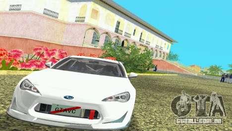 Subaru BRZ Type 4 para GTA Vice City deixou vista