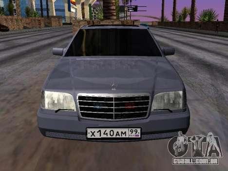 Mercedes-Benz S600 W140 para GTA San Andreas vista direita