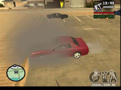 GTA V to SA: Burnout RRMS Edition para GTA San Andreas quinto tela
