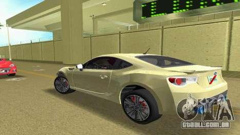 Subaru BRZ Type 1 para GTA Vice City vista direita