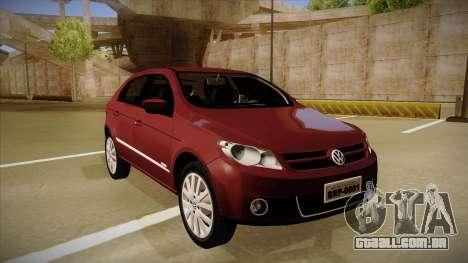 VW Gol Power 1.6 2009 para GTA San Andreas esquerda vista