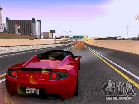 Tesla Roadster Sport 2011 para GTA San Andreas vista inferior
