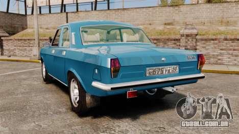 Volga GAZ-2410 v3 para GTA 4 traseira esquerda vista