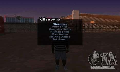 Cheat Menu para GTA San Andreas segunda tela