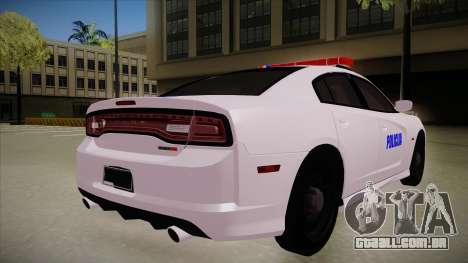 Dodge Charger SRT8 Policija para GTA San Andreas vista direita