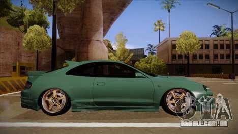 Toyota Celica GT4 para GTA San Andreas traseira esquerda vista