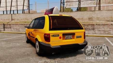 Dodge Grand Caravan 2005 Taxi LC para GTA 4 traseira esquerda vista