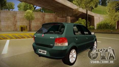 FIAT Palio ELX 2010 para GTA San Andreas vista direita