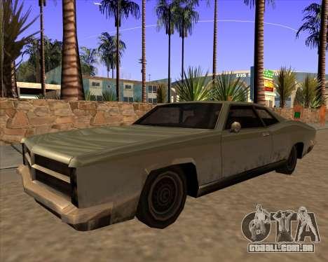 Buccaneer para GTA San Andreas traseira esquerda vista
