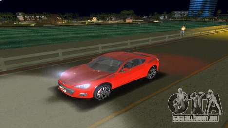 Subaru BRZ Type 1 para GTA Vice City vista lateral