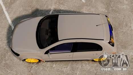 Volkswagen Gol G6 2013 Turbo Socado para GTA 4 vista direita