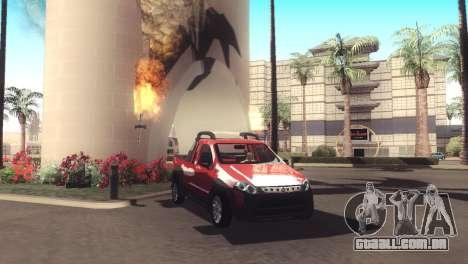 Fiat Strada Locker 2013 para GTA San Andreas vista interior