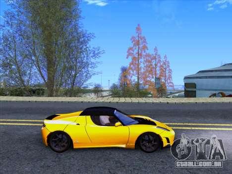 Tesla Roadster Sport 2011 para GTA San Andreas vista traseira