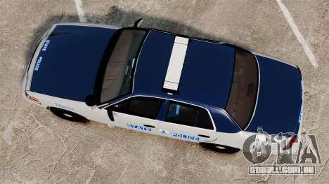 Ford Crown Victoria Virginia State Police [ELS] para GTA 4 vista direita