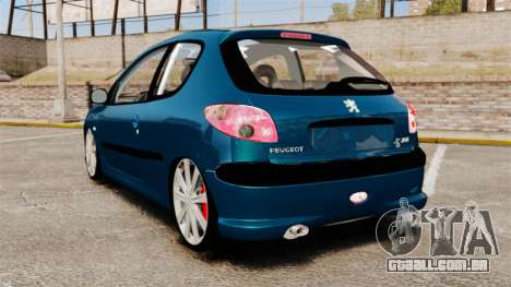Peugeot 206 para GTA 4 traseira esquerda vista