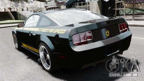 Shelby Terlingua Mustang para GTA 4 traseira esquerda vista
