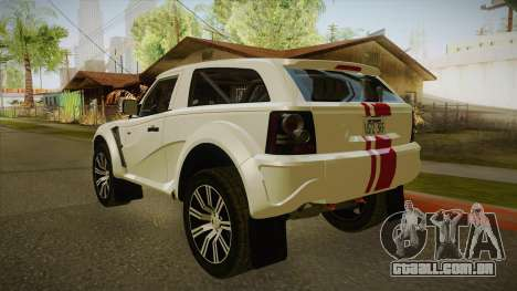 Coco EXR S 2012 FIV & APT para GTA San Andreas vista direita