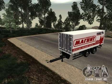 Trailer homem imã para GTA San Andreas vista direita