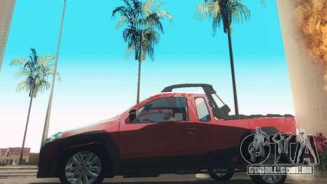 Fiat Strada Locker 2013 para GTA San Andreas traseira esquerda vista