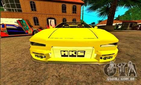 Infernus Cabrio Edition para GTA San Andreas vista traseira