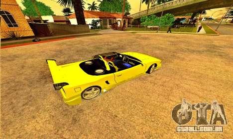 Infernus Cabrio Edition para GTA San Andreas esquerda vista
