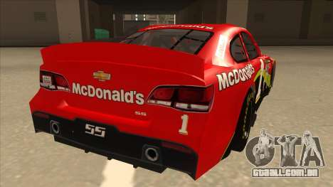 Chevrolet SS NASCAR No. 1 McDonalds para GTA San Andreas vista direita