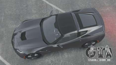 Chevrolet Corvette C7 Stingray 2014 para GTA 4 vista direita