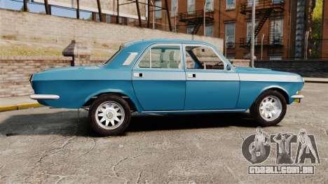Volga GAZ-2410 v3 para GTA 4 esquerda vista
