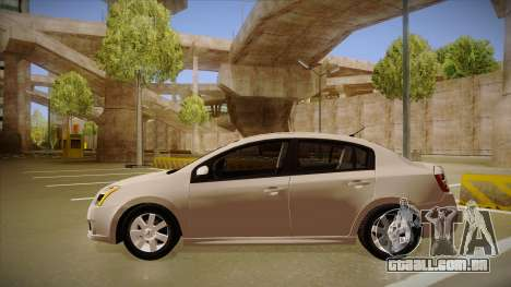 Nissan Sentra S 2008 para GTA San Andreas traseira esquerda vista
