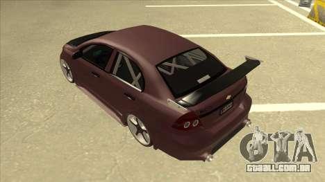 Chevrolet Aveo LT Tuning para GTA San Andreas vista traseira