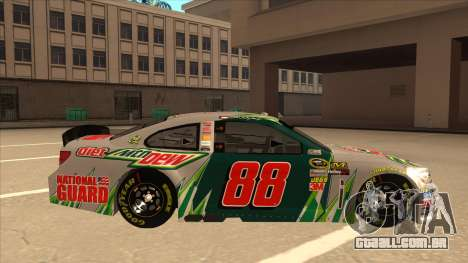 Chevrolet SS NASCAR No. 88 Diet Mountain Dew para GTA San Andreas traseira esquerda vista