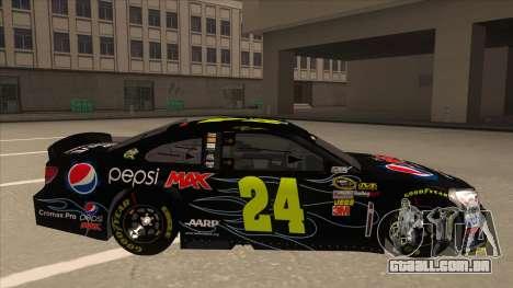 Chevrolet SS NASCAR No. 24 Pepsi Max AARP para GTA San Andreas traseira esquerda vista