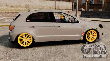 Volkswagen Gol G6 2013 Turbo Socado para GTA 4 esquerda vista