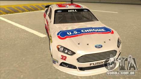 Ford Fusion NASCAR No. 32 U.S. Chrome para GTA San Andreas esquerda vista