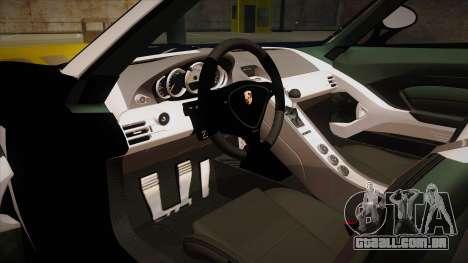 Porsche Carrera GT 2004 Police Black para GTA San Andreas vista interior