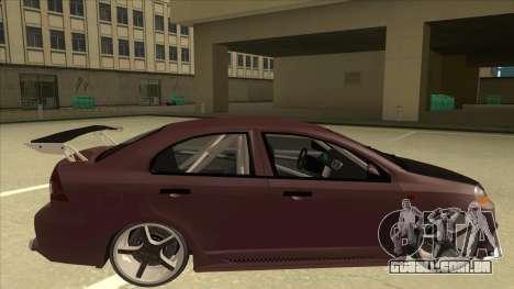 Chevrolet Aveo LT Tuning para GTA San Andreas traseira esquerda vista