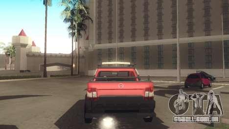 Fiat Strada Locker 2013 para GTA San Andreas vista direita