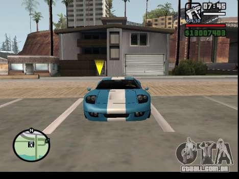 O seqüestro de carros para GTA San Andreas por diante tela