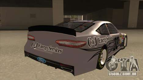 Ford Fusion NASCAR No. 32 C&J Energy services para GTA San Andreas vista direita