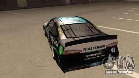 Ford Fusion NASCAR No. 43 Smithfield Foods para GTA San Andreas vista traseira