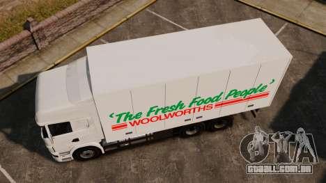 Scania R580 Tandem Woolworths para GTA 4 traseira esquerda vista
