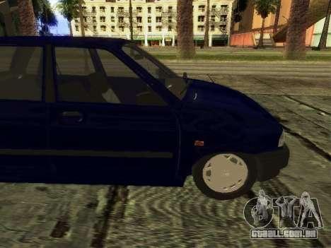 Kia Pride Hatchback para GTA San Andreas traseira esquerda vista