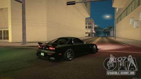 Mazda RX-7 STANCENATION para GTA San Andreas vista superior