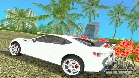 Subaru BRZ Type 4 para GTA Vice City vista direita