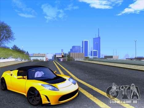 Tesla Roadster Sport 2011 para GTA San Andreas traseira esquerda vista