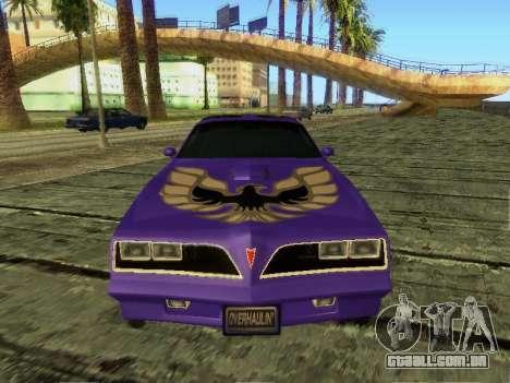 Pontiac Firebird Overhaulin para GTA San Andreas esquerda vista
