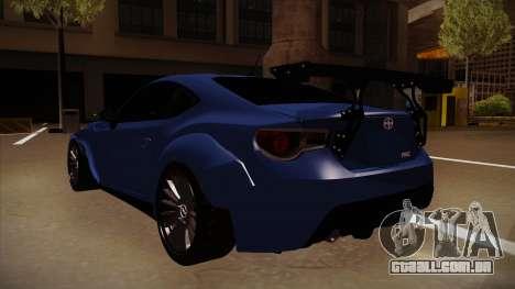 Scion FR-S Rocket Bunny para GTA San Andreas vista traseira