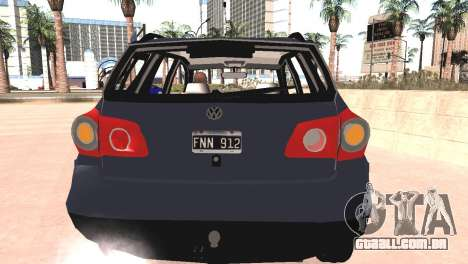 Volkswagen Suran para GTA San Andreas vista traseira