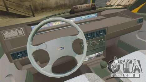 Fiat Tempra SX.A Turkish Taxi para GTA 4 vista de volta